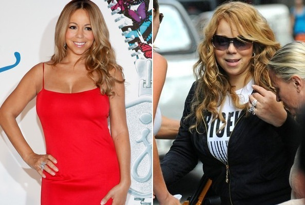 Mariah Carey Fat to Fit Hollywood Celebrity