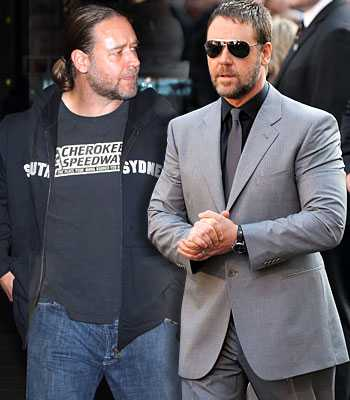 Russell Crowe Fat to Fit Hollywood Celebrity