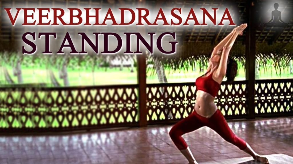 VeerBhadrasana standing Shilpa Shetty Weight Loss Yoga