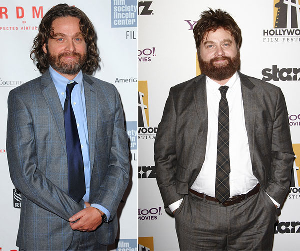 Zach Galifianakis Hollywood Celebrity Fat to Fit
