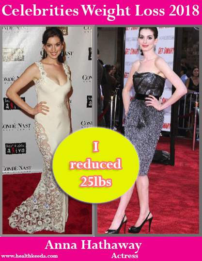 Anne Hathaway Weight Loss Before After