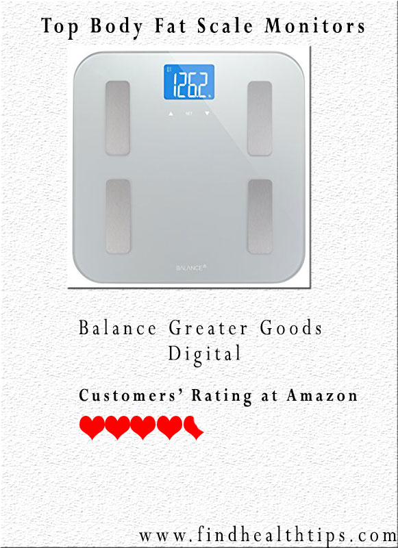 Balance Greater Goods Digital Body Fat Weight Scale