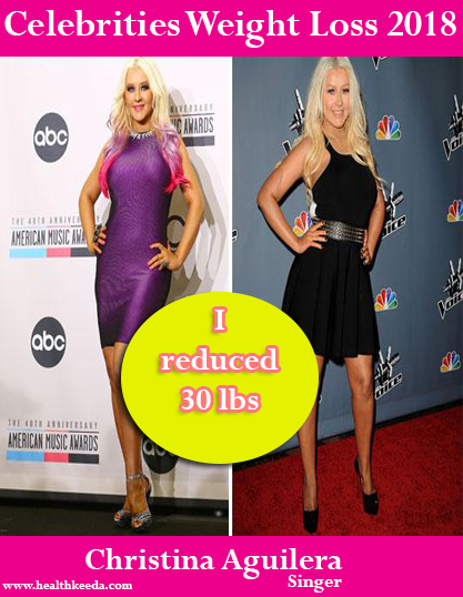 Christina Aguilera weight loss before after