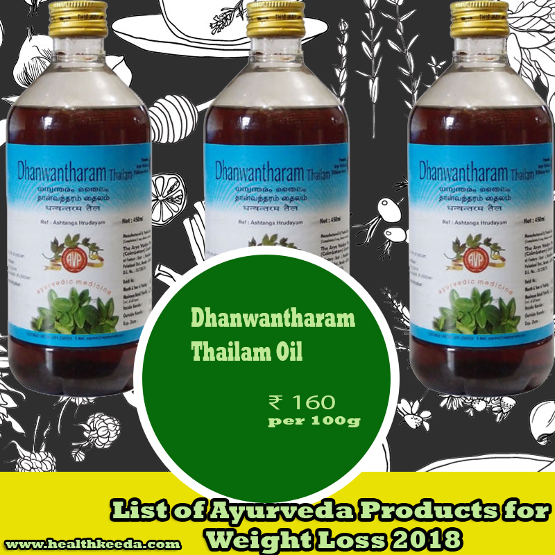 Dhanwantharam Thailam Oil Weight Loss Ayurvedic Products