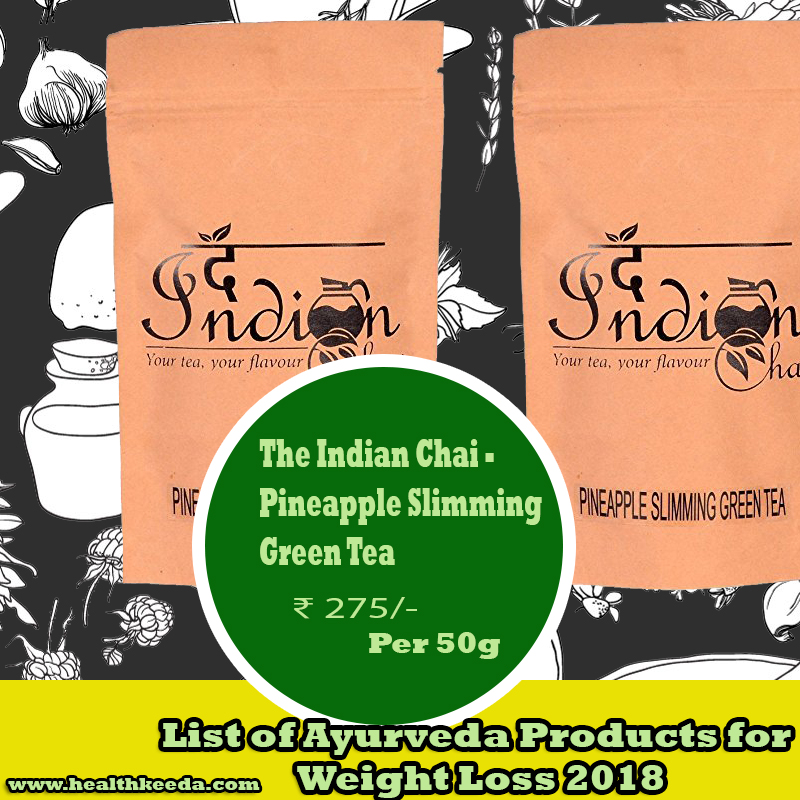 The Indian Chai Pineapple Slimming Green Tea Weight Loss Ayurvedic Products