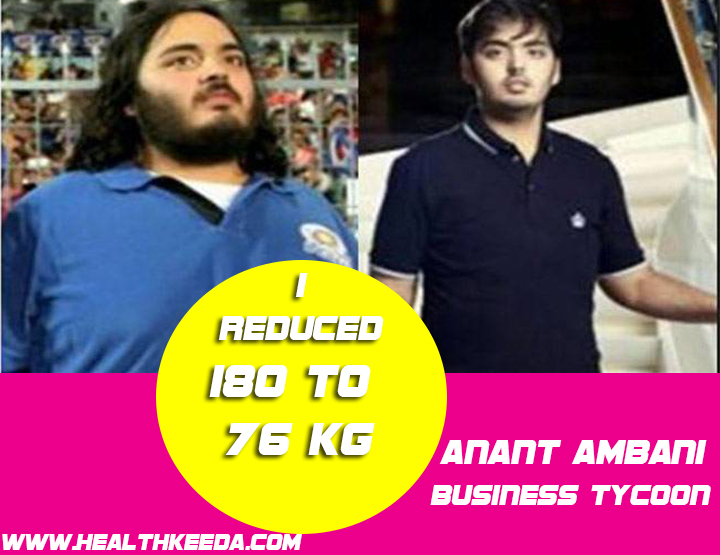 Anant Ambani Before and After Photo - Indian celebrities weight loss