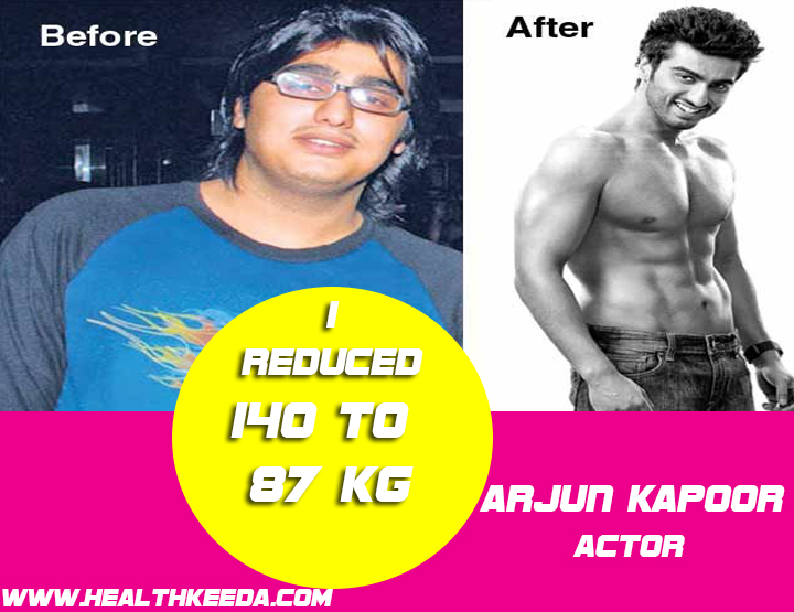 Arjun Kapoor Before and After Photo | Indian Celebrities Weight Loss
