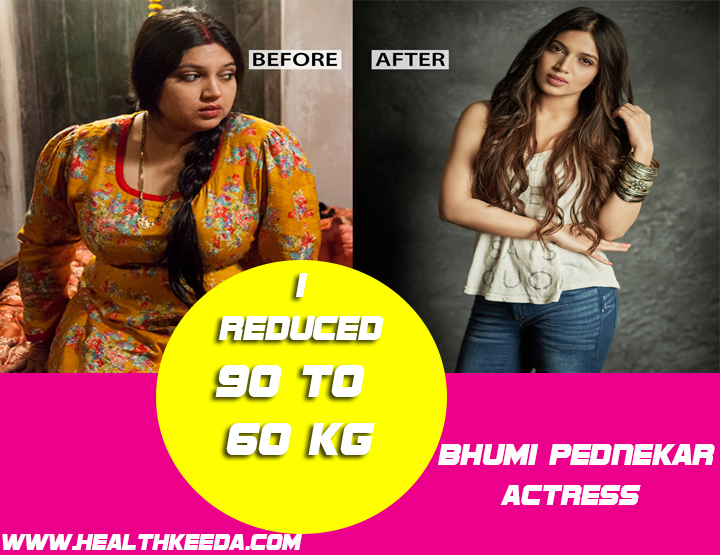 Bhumi Pednekar Before and After Photo | Indian Celebrities Weight Loss