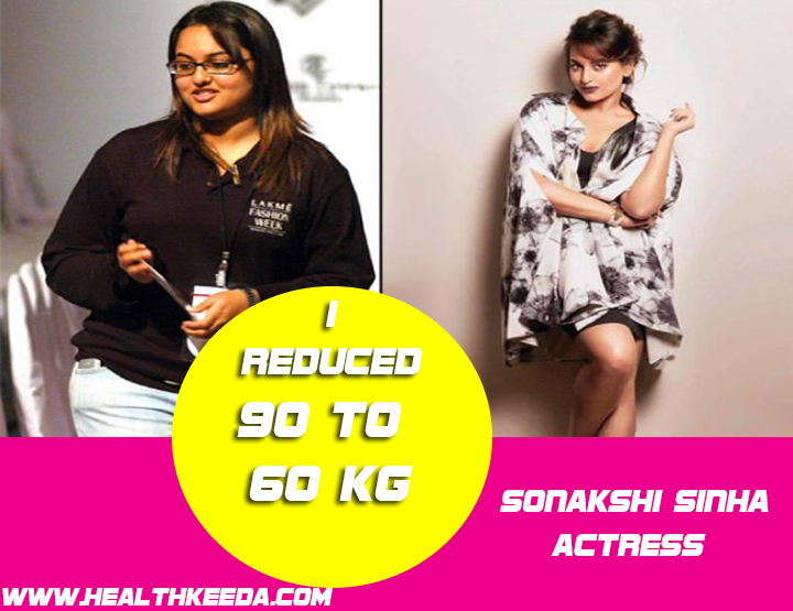 Sonakshi Sinha Before and After Photo | Indian Celebrities Weight Loss