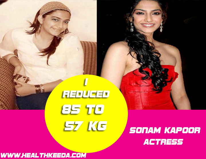 Sonam Kapoor Before and After Photo | Indian Celebrities Weight Loss
