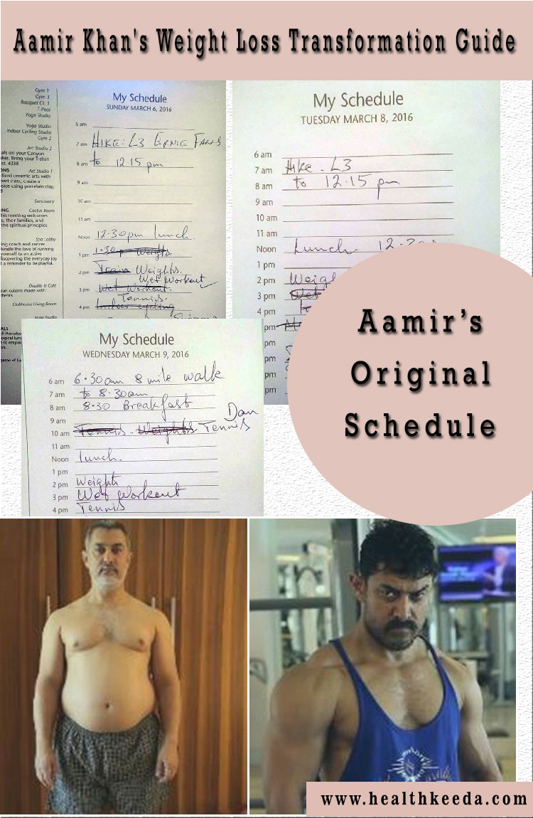 aamir khan schedule exercising and diet for dangal