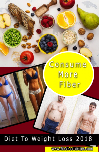consume more fiber diet tips weight loss 2018