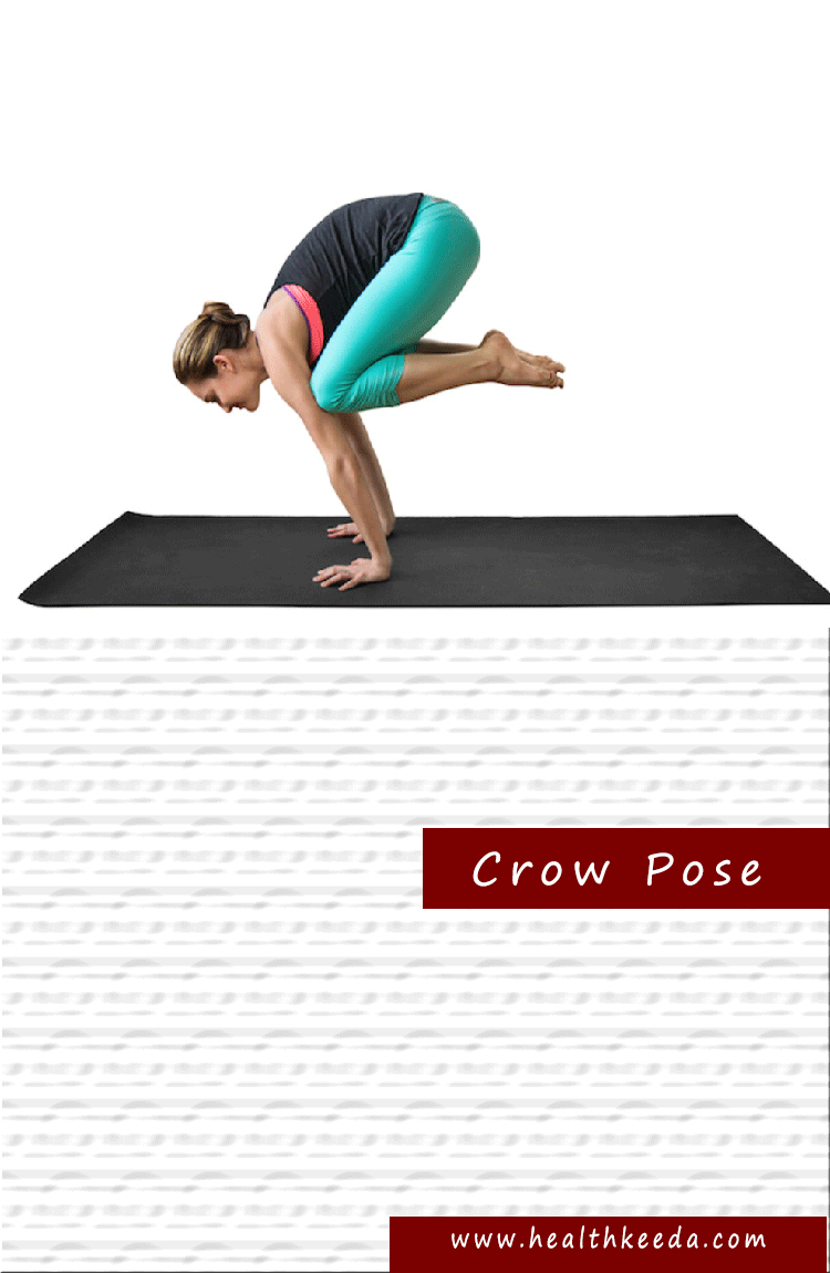 Crow pose yoga pose weight loss