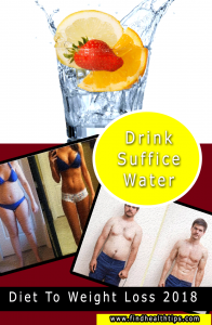 drink suffice water diet tips weight loss 2018
