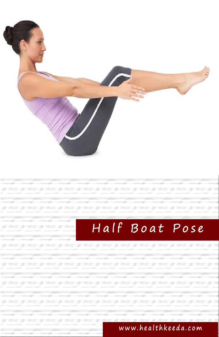half boat Yoga Pose Weight Loss