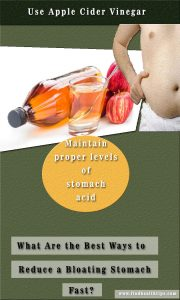 use apple cider unbloat your stomach