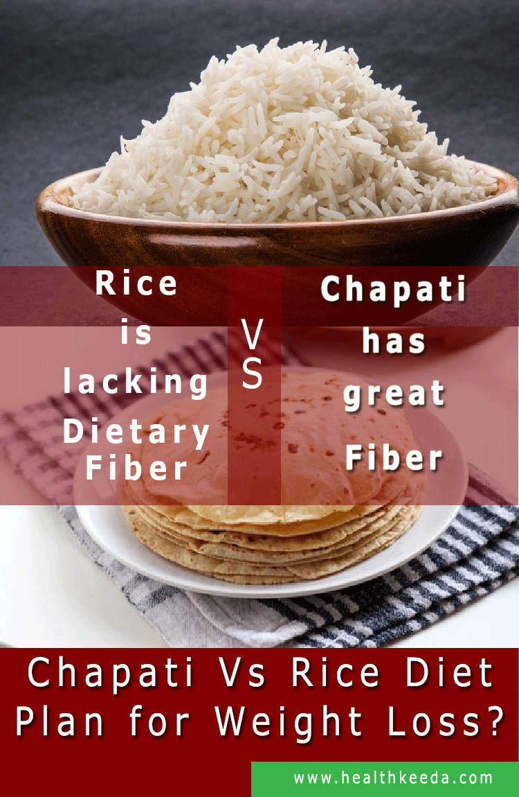 rice vs chapati diet plan