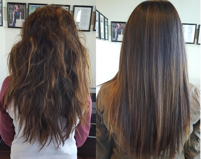 Hair Straightening - Before and After Photo