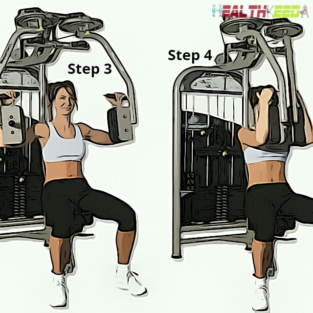 Step 3 and Step 4 to sit and adjust the elbow| Exercise for breast reduction