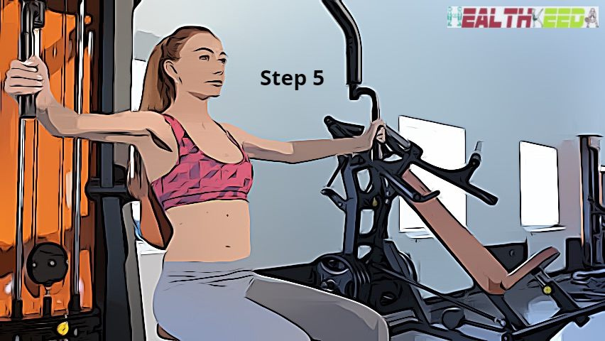 Step 5 - keep your elbow and shoulders in the straight line | Butterflies for reducing breast size