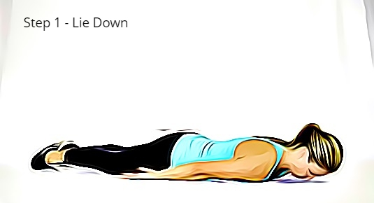 Step 1 Lie Down on the Floor | Pushup Technique
